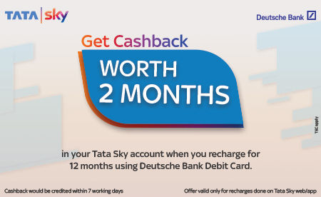 Deutsche Bank debit card users will get 2-month worth of cashback upon recharging for 12 months or more