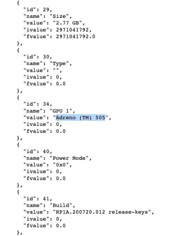 Vivo Y12A (V2102) Geekbench's source code