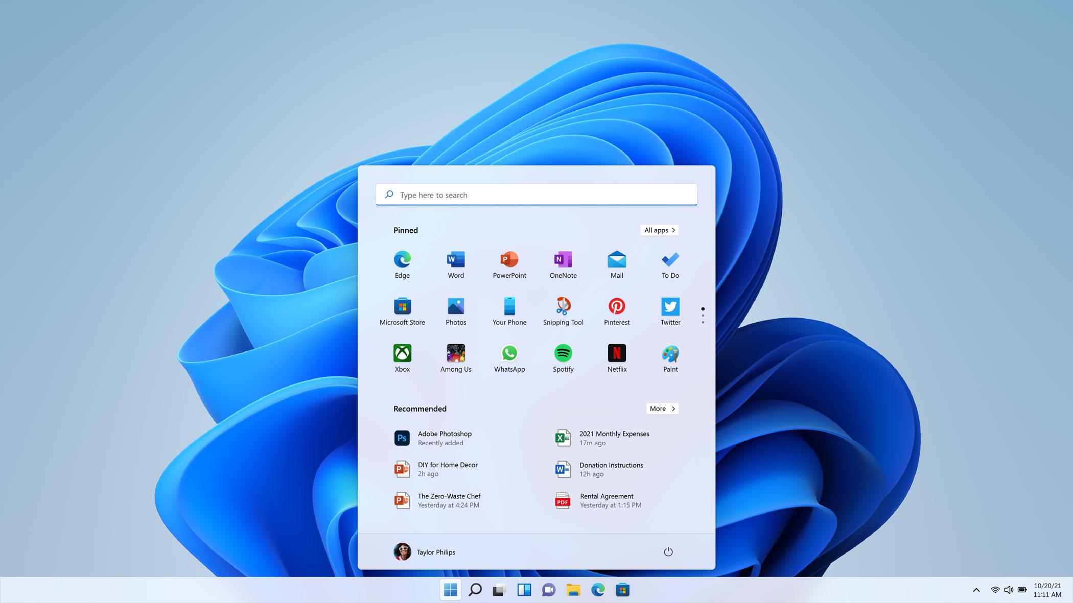Windows 11Start Menu