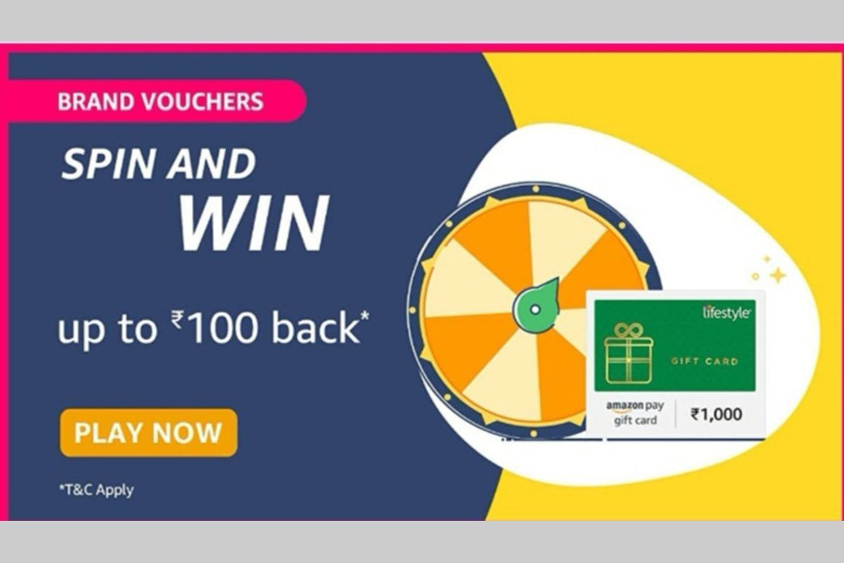 Amazon Brand Vouchers Spin and Win Quiz