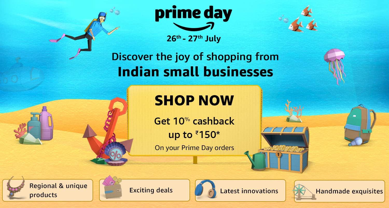 Amazon Prime Day Cashback offer