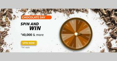 Amazon Chocolate Day Spin and Win Quiz