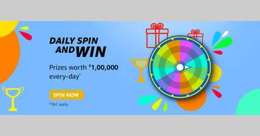 Amazon Daily Spin and Win Quiz
