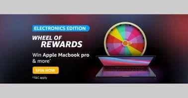 Amazon Electronics Edition Wheel of Rewards Quiz