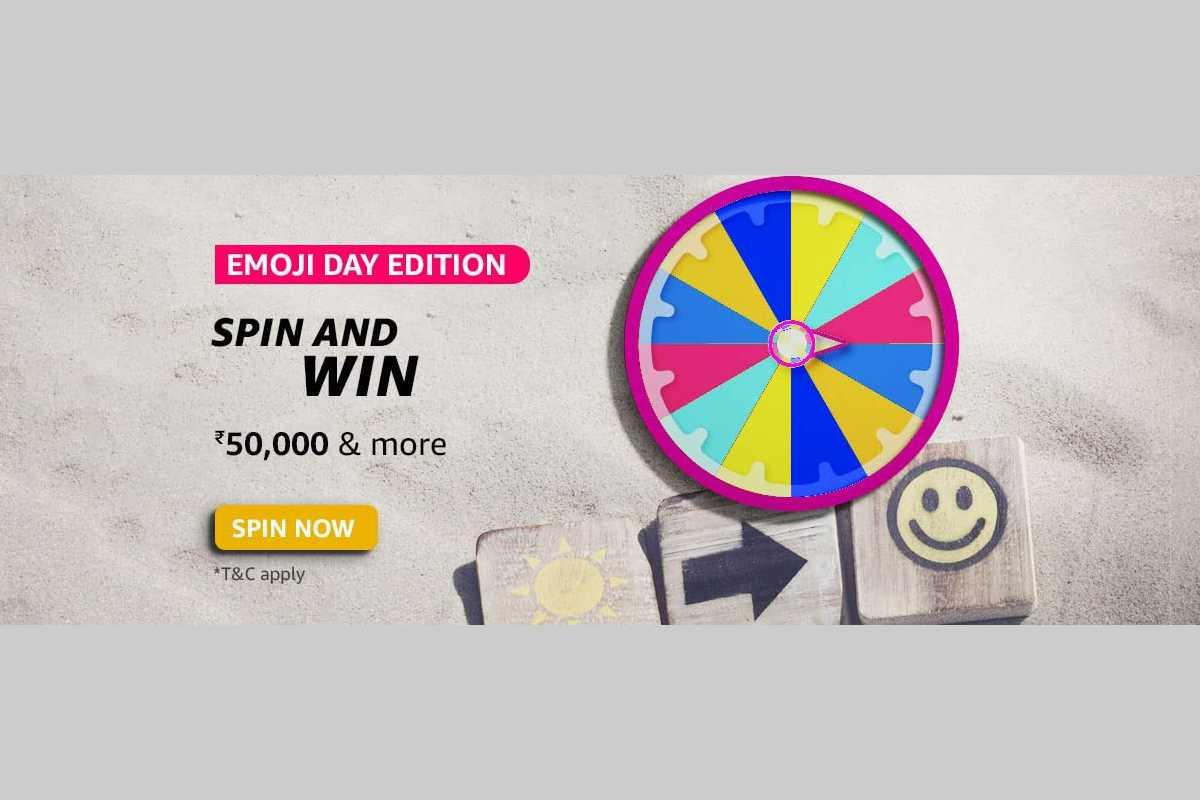Amazon Emoji Day Edition Spin and Win Quiz