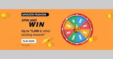 Amazon Fashion Spin and Win Quiz