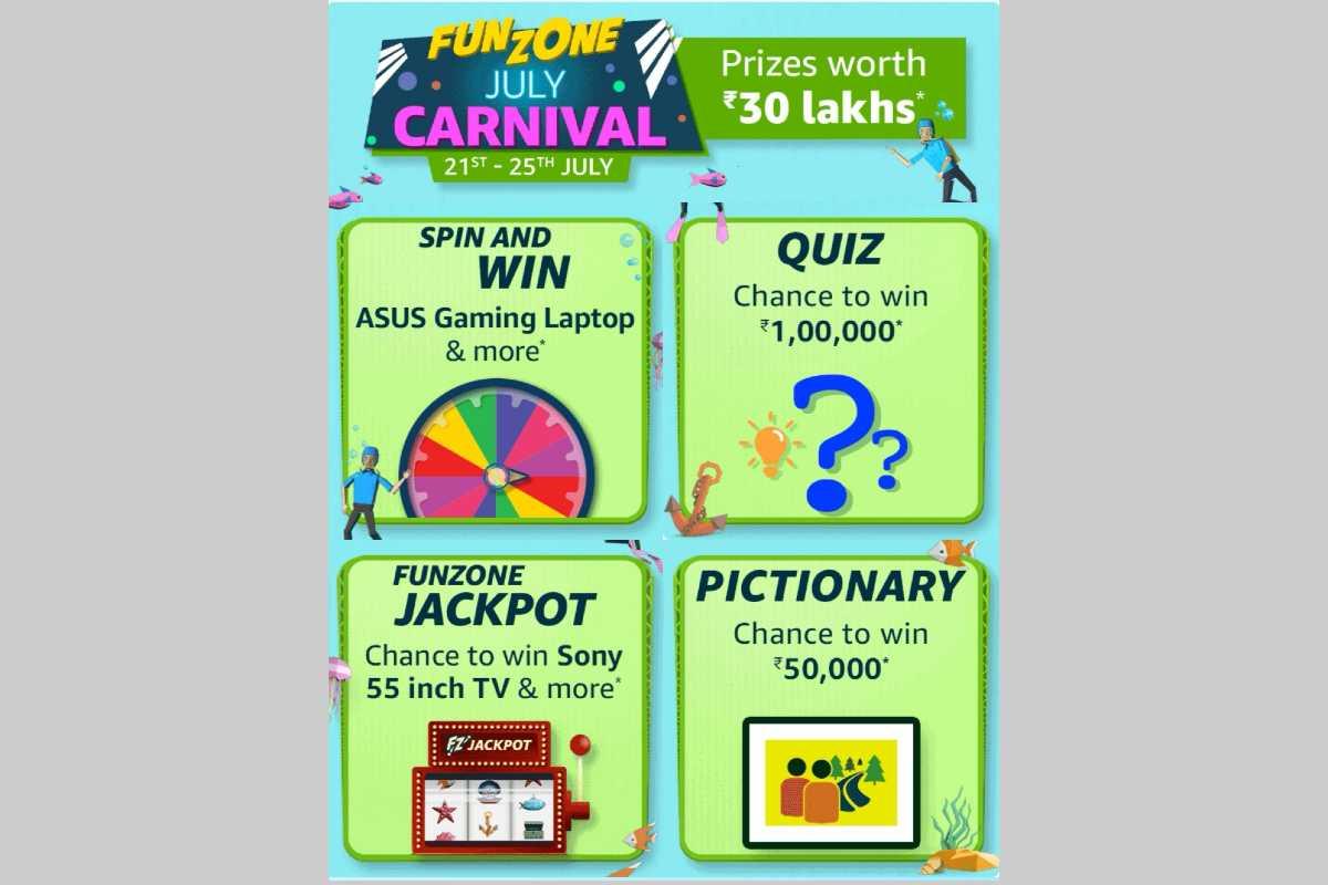 Amazon Funzone July Carnival Quiz