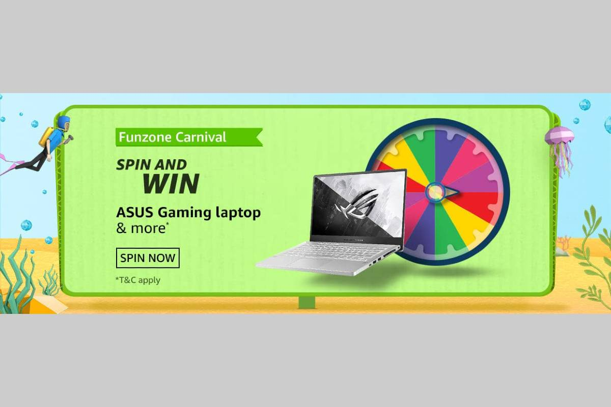 Amazon Funzone July Carnival Spin and Win Quiz
