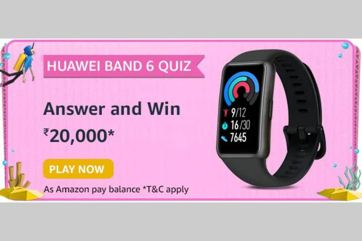 Amazon Huawei Band 6 Quiz