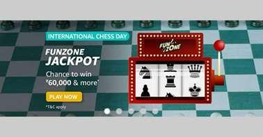 Amazon International Chess Day Funzone Jackpot Quiz answers