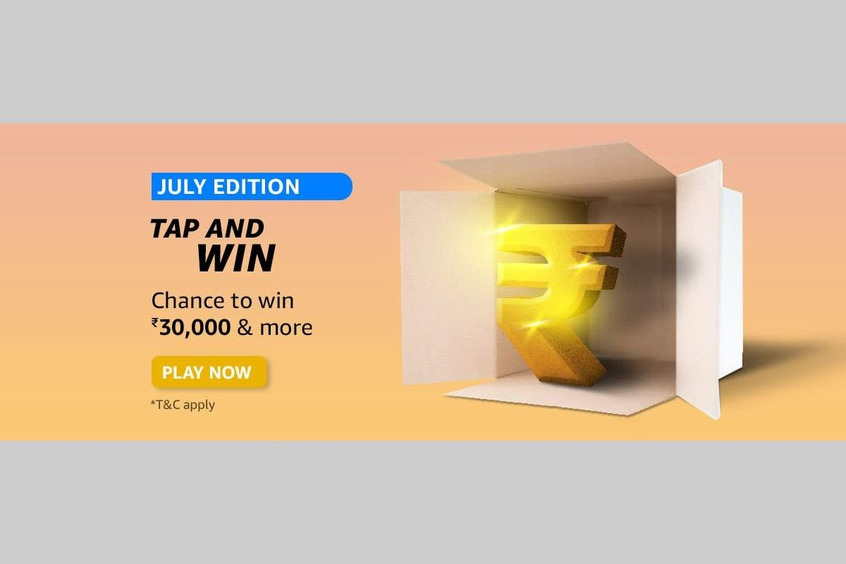 Amazon July Edition Tap and Win Quiz