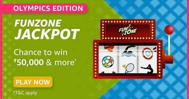 Amazon Olympics Edition Funzone Jackpot Quiz