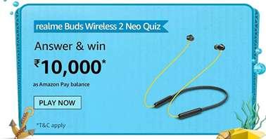 Amazon Realme Buds Wireless 2 Neo Quiz