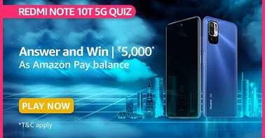 Amazon Redmi Note 10T 5G Quiz