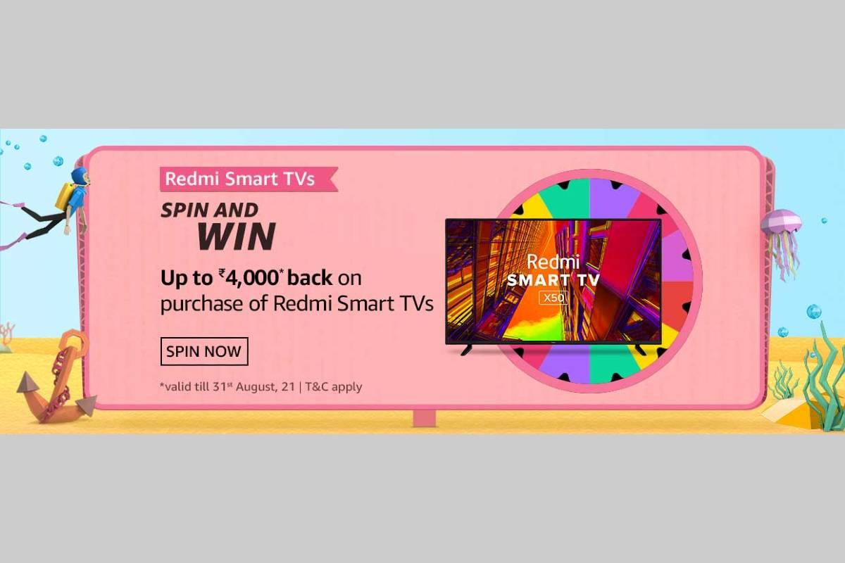 Amazon Redmi Smart TVs Spin and Win Quiz
