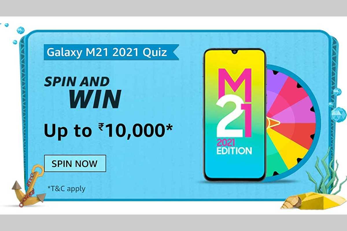 Amazon Samsung Galaxy M21 2021 Spin and Win Quiz