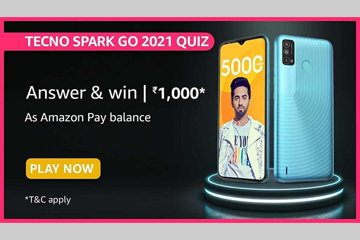 Amazon Tecno Spark Go 2021 Quiz