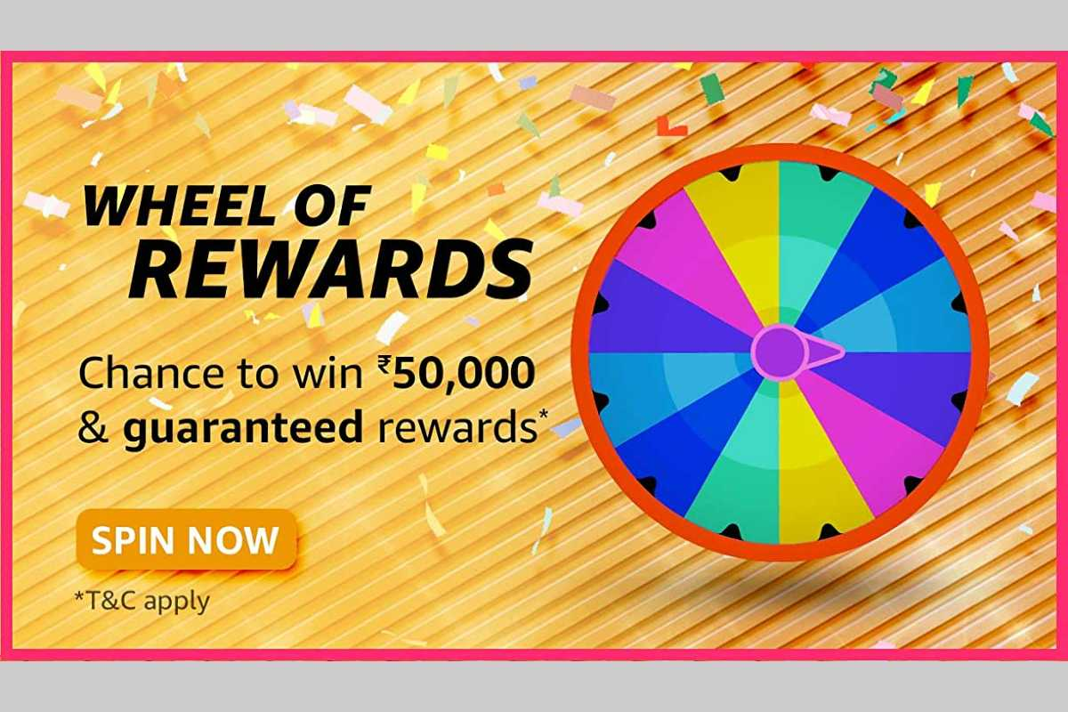 Amazon Wheel of Rewards Spin and Win Quiz