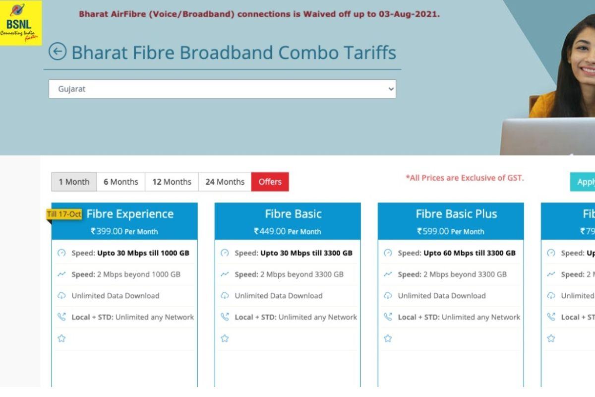 BSNL Fiber Experience Rs 399 plan