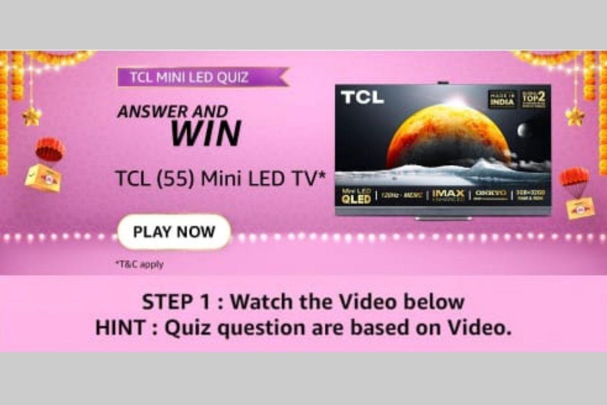 Amazon TCL Mini LED TV Quiz