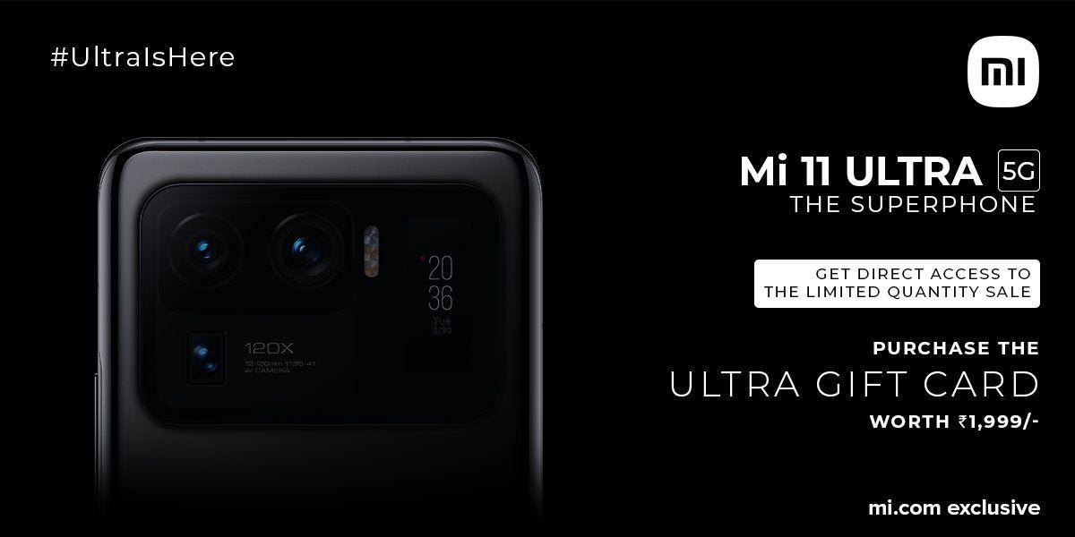 Xiaomi Mi 11 Ultra - ultra gift card
