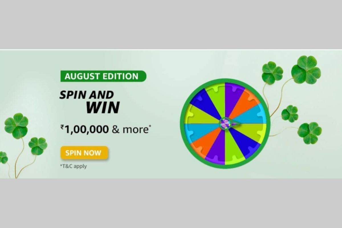 Amazon August Edition Spin and Win Quiz