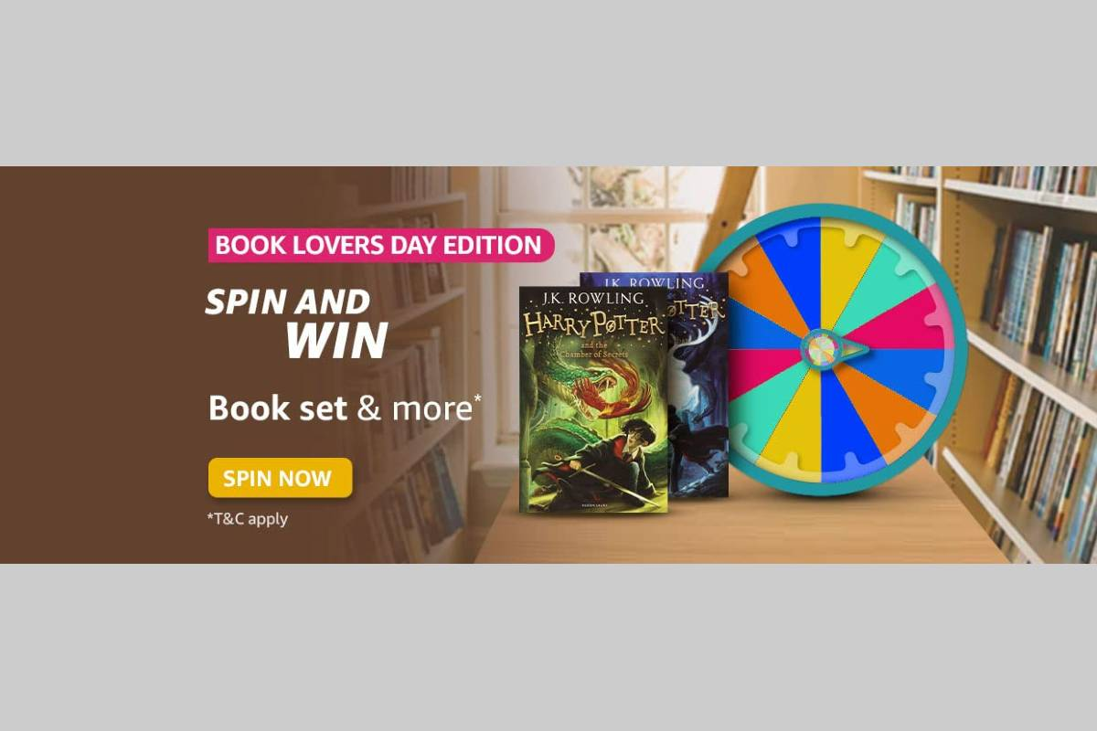 Amazon Book Lovers Day Edition Spin and Win Quiz