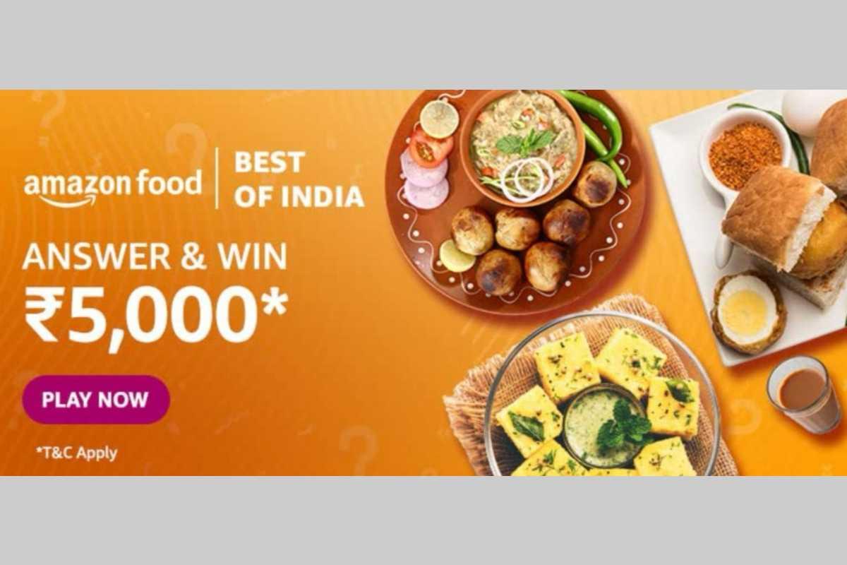 Amazon Food Best of India Quiz