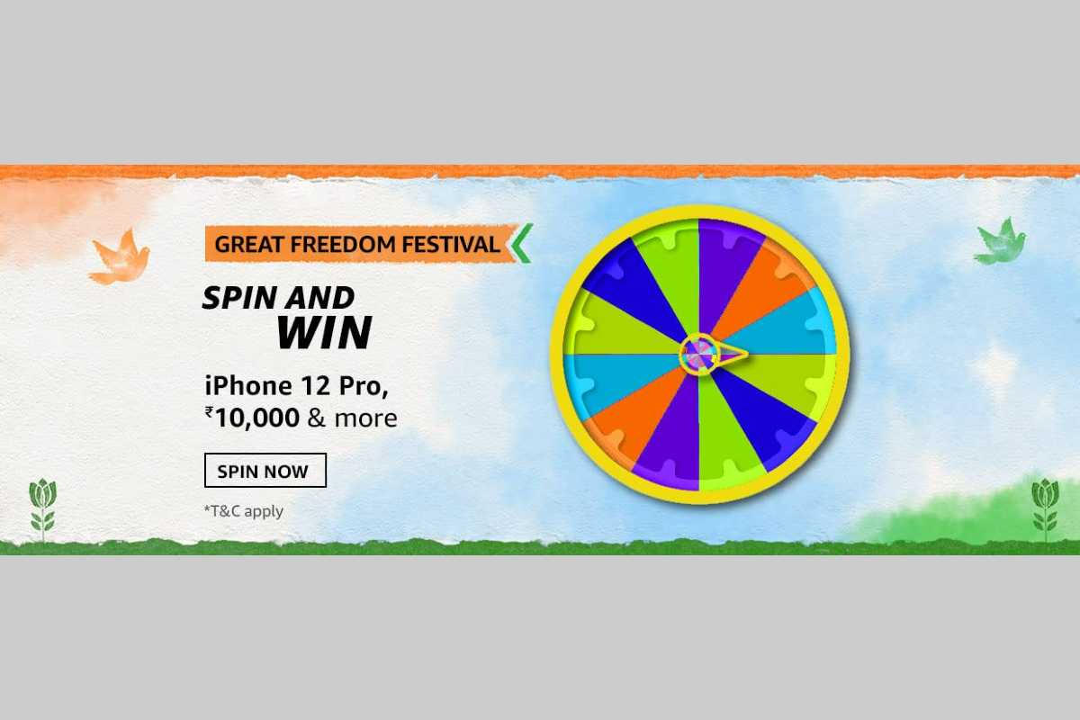 Amazon Great Freedom Festival Spin and Win Quiz