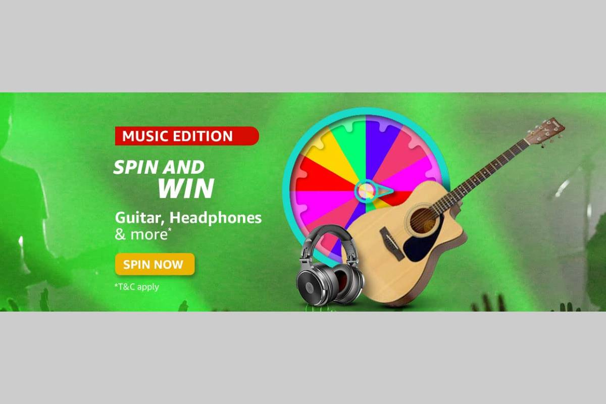 Amazon Music Edition Spin and Win Quiz
