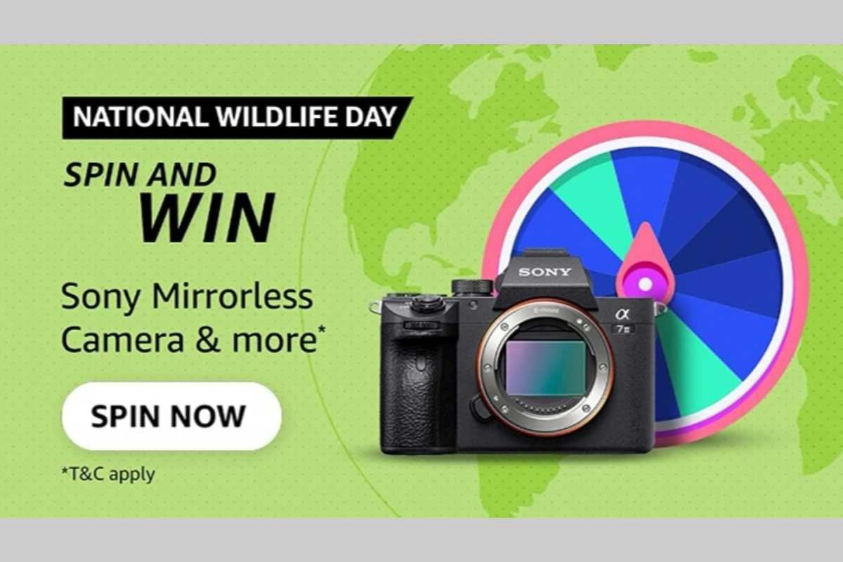 Amazon National Wildlife Day Spin and Win Quiz
