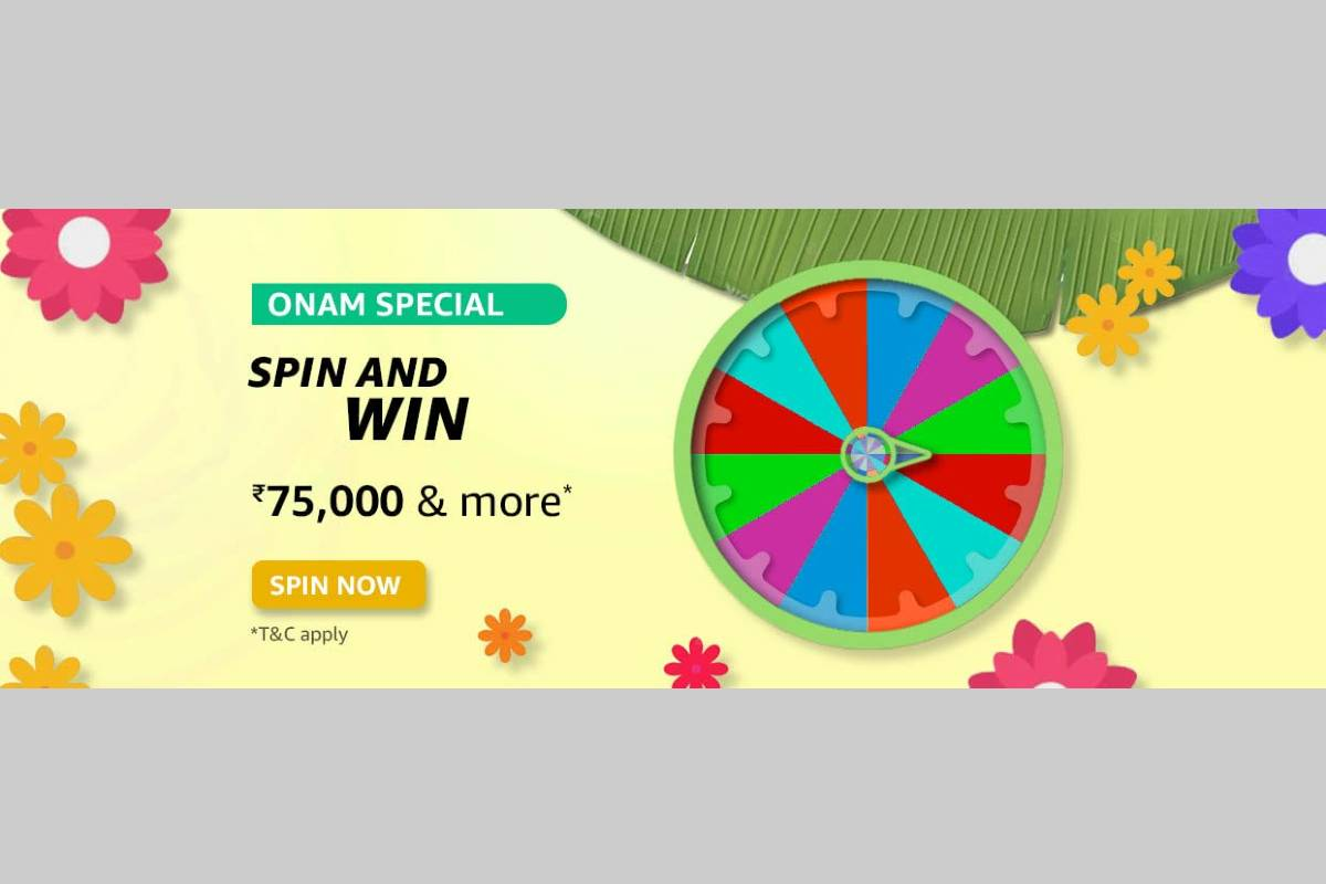 Amazon Onam Special Spin and Win Quiz