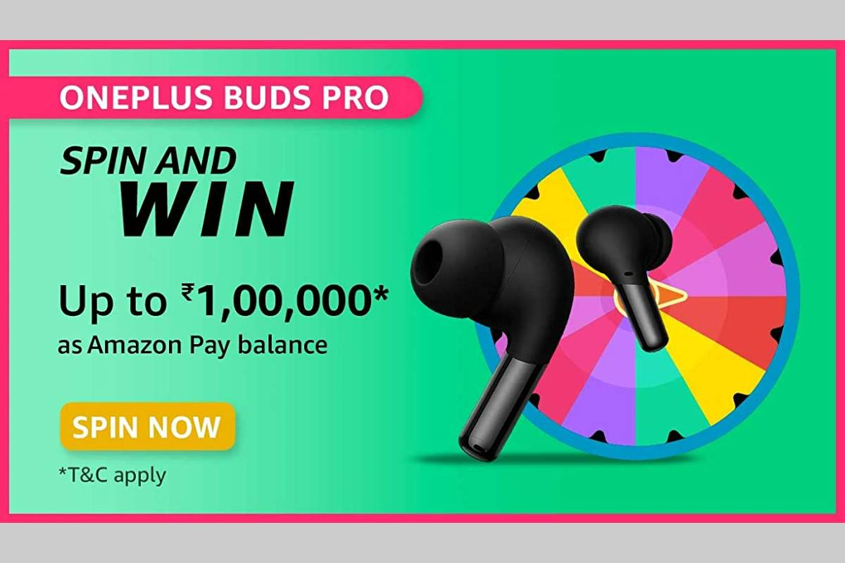 Amazon OnePlus Buds Pro Spin and Win Quiz