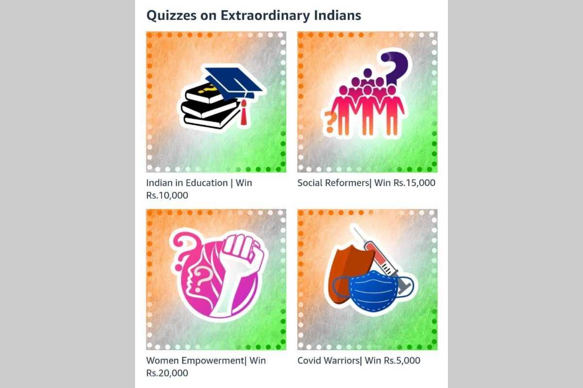 Amazon Quizzes on Extraordinary Indians