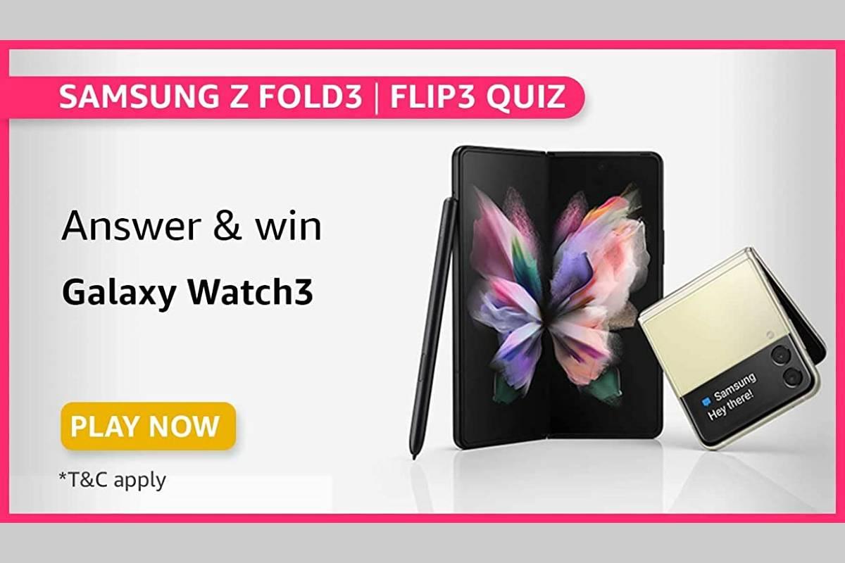 Amazon Samsung Galaxy Z Fold3 Z Flip3 Quiz