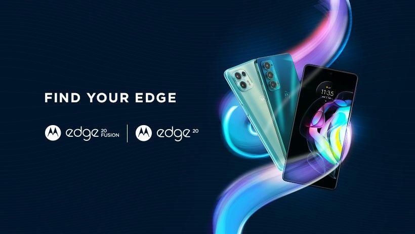 Motorola Edge 20 and Edge 20 Fusion poster