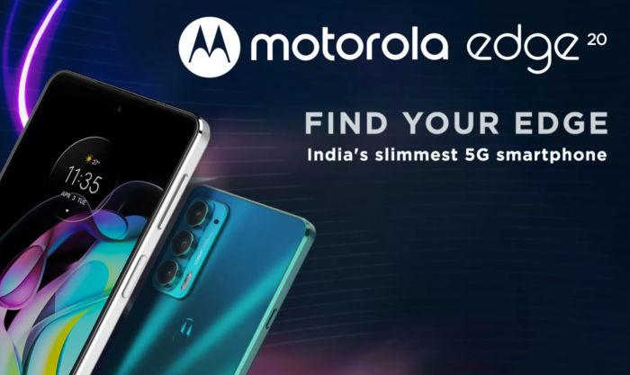 Motorola Edge 20 landing page