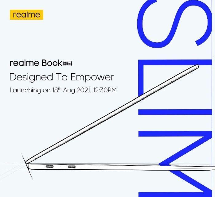 Realme Book Slim launch date