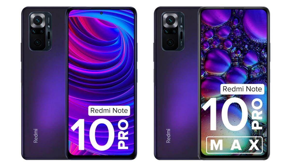 Redmi Note 10 Pro and Redmi Note 10 Pro Max in Dark Nebula
