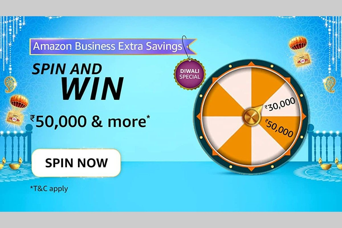 Amazon Business Extra Savings Spin and Win Quiz