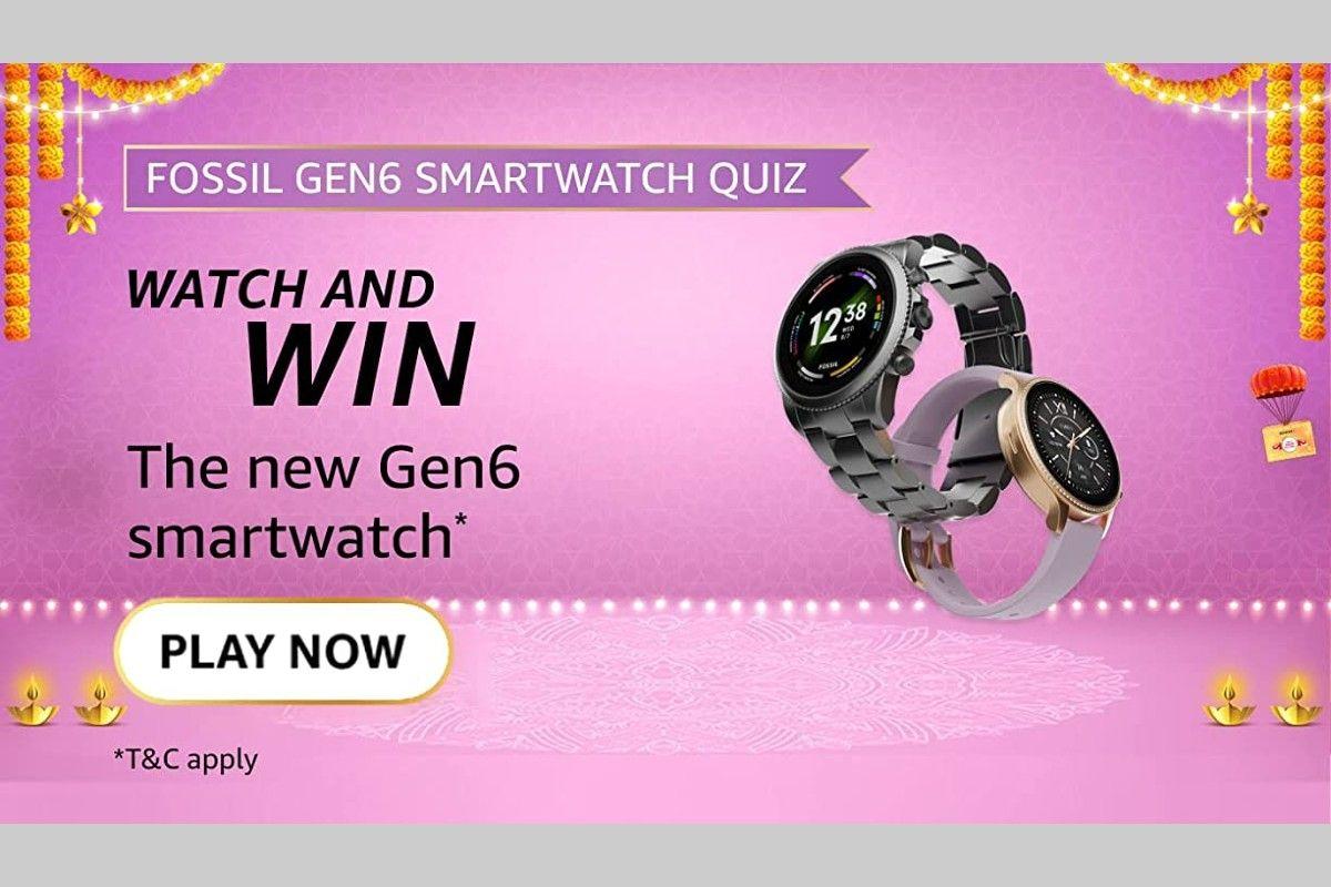 Amazon Fossil Gen 6 Smartwatch Quiz