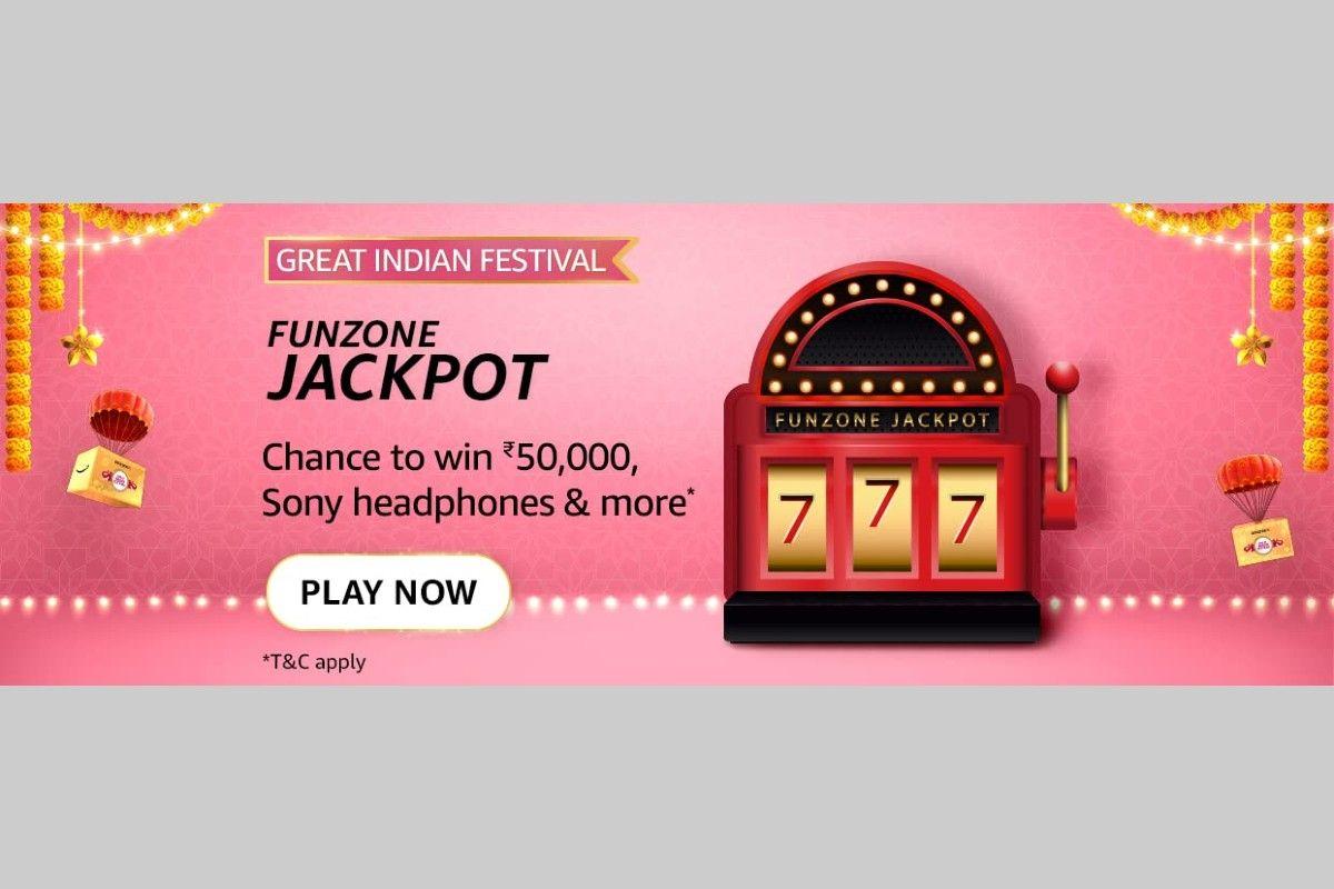 Amazon Great Indian Festival Funzone Jackpot Quiz