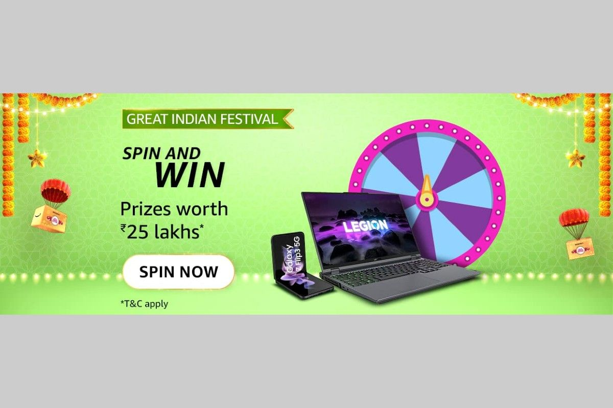 Amazon Great Indian Festival Spin and Win Quiz