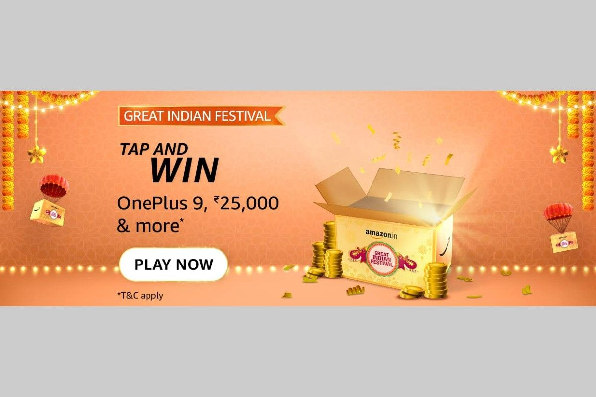 Amazon Great Indian Festival Tap and Win Quiz