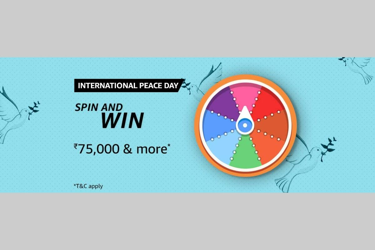Amazon International Peace Day Spin and Win Quiz