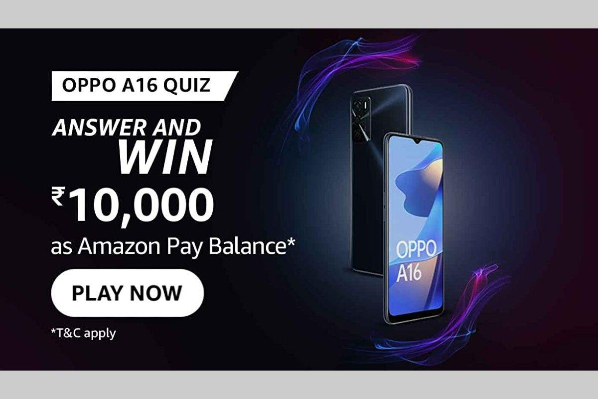 Amazon OPPO A16 Quiz