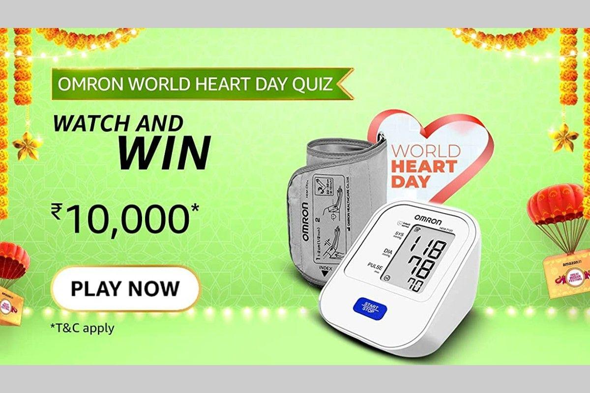 Amazon Omron World Heart Day Quiz