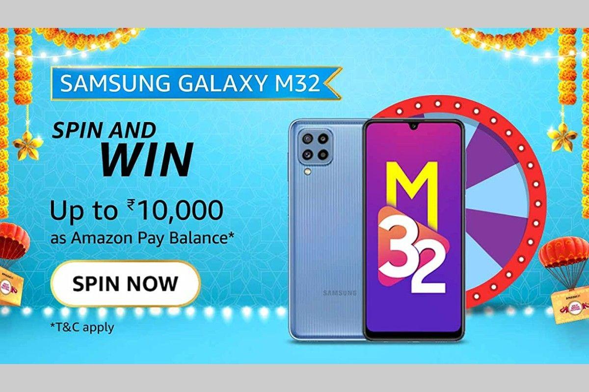 Amazon Samsung Galaxy M32 Spin and Win Quiz