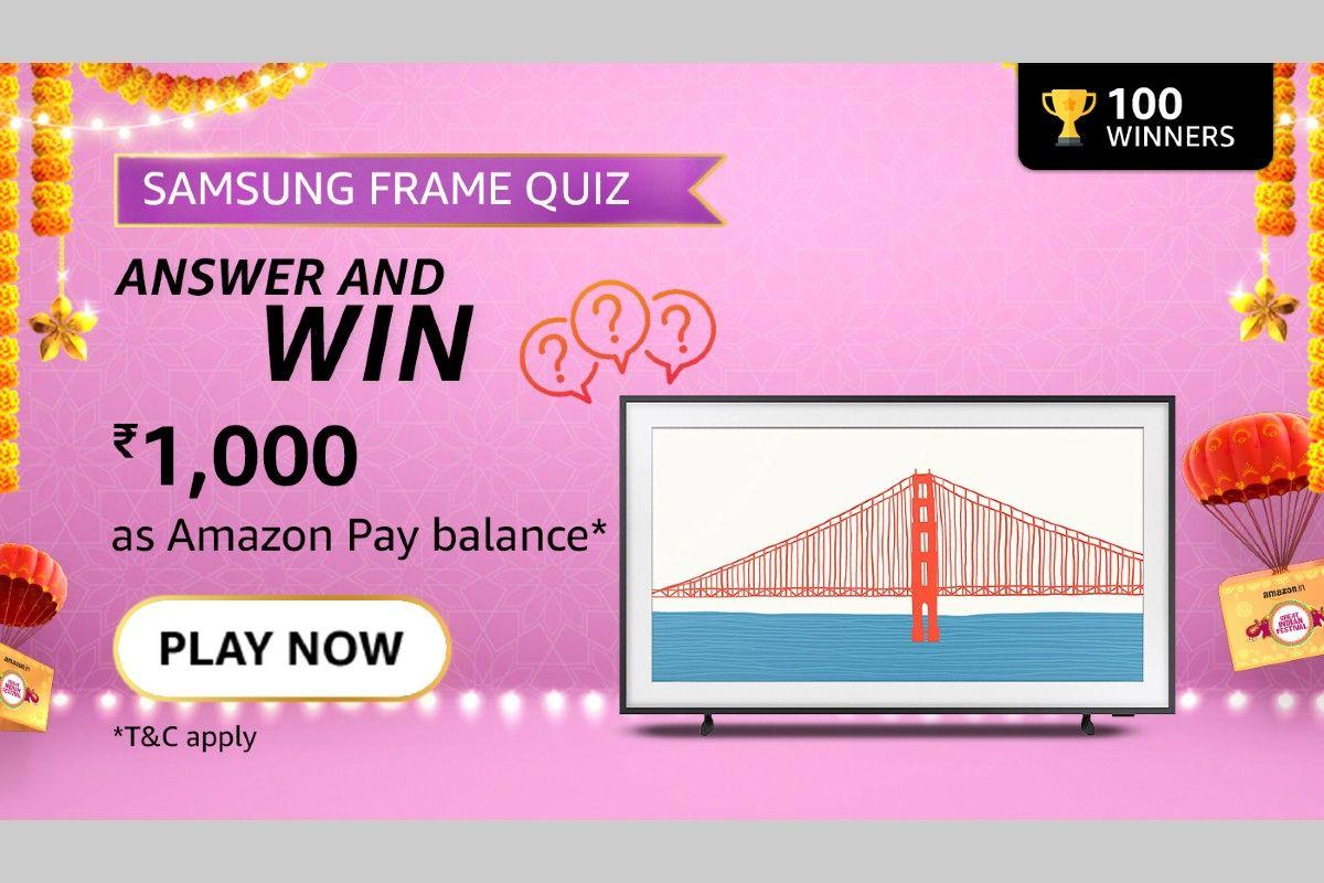 Amazon Samsung Lock your Frame TV Quiz