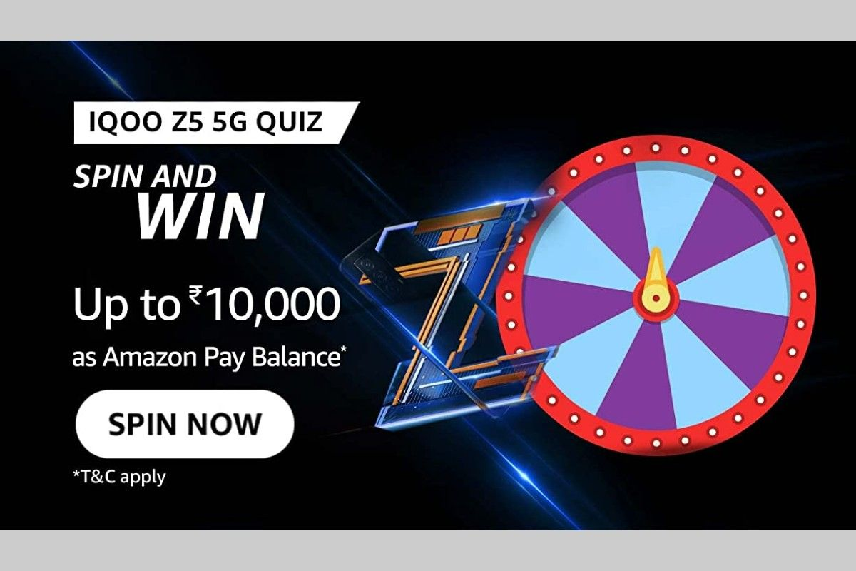 Amazon iQOO Z5 5G Spin and Win Quiz
